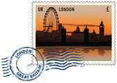 Postmark from London — Stockvector