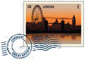 从伦敦盖上邮戳 — 图库矢量图片