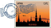Postmark from Latvia — Stock Vector