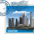 Vetorial Stock : Postmark from Singapore