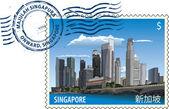 Postmark from Singapore — Stock Vector
