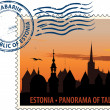 Postmark from Estonia — Stock Vector