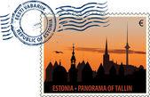 来自爱沙尼亚盖上邮戳 — 图库矢量图片