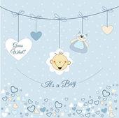 Baby boy announcement — Stock Vector