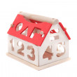 Toy house isolated — Stock Photo