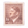 Stock Photo: Old postage stamp with adolf hitler