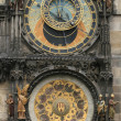 Stok fotoğraf: Detail of old prague clock
