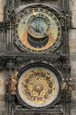 Detail of old prague clock — Stock Photo