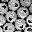 Empty cans background — Stock Photo