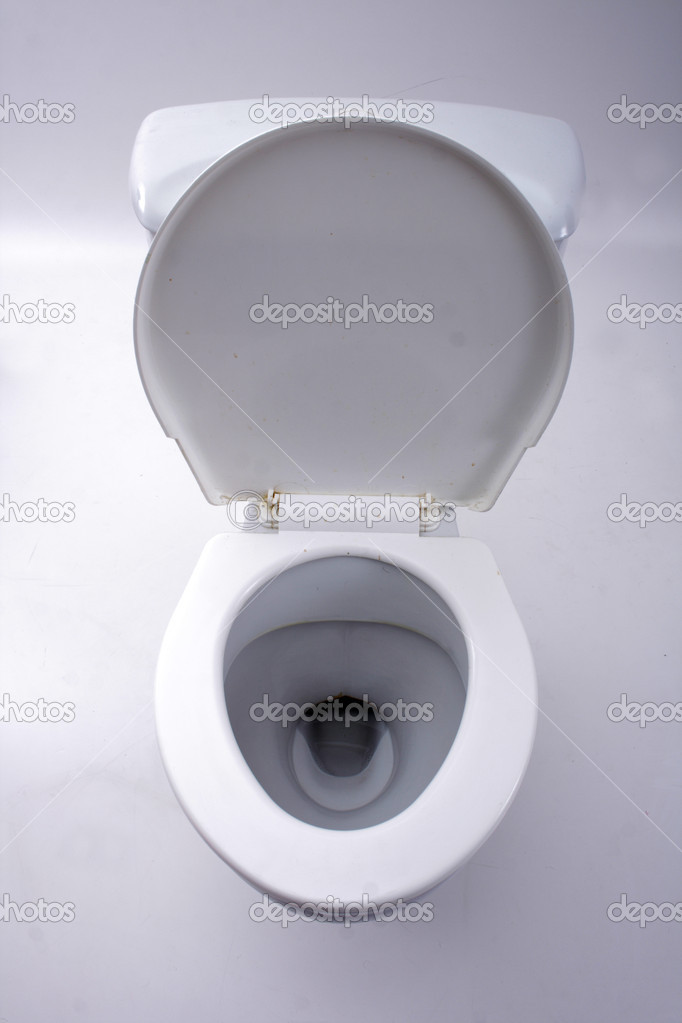 Old toilet isolated on the white background — Foto Stock #3617147