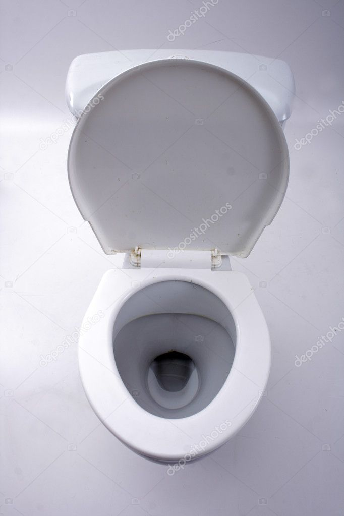 Old toilet isolated on the white background   #3617147