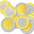Portuguese Euro Coins — Stock Photo