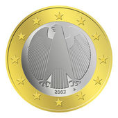 German Euro Coin — Stock Photo