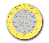 Portuguese Euro Coin — Stock Photo