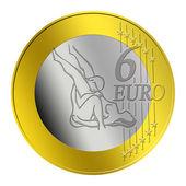 6 Euro Coin — Stock Photo