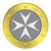 Maltese Euro Coin — Stock Photo