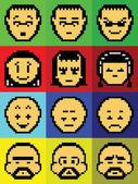 Pixel Icons (Avatars) — Stock Photo
