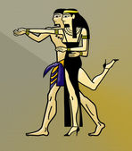 Egyptian Couple Dance — Stock Photo