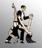 Tango Dancers — Stock Photo