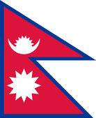Nepal Flag — Stock Photo
