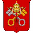 Vatican City Coat of Arms — Zdjęcie stockowe