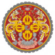 Bhutan Coat of Arms — ストック写真