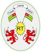 Togo vapensköld — Stockfoto