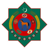 Turkmenistan Coat of Arms — Stock Photo