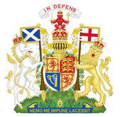 United Kingdom Coat of Arms — Stock Photo
