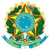 Brazil Coat of Arms — Stok fotoğraf