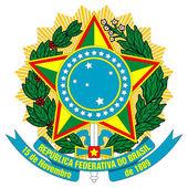 Stemma di brasile — Foto Stock