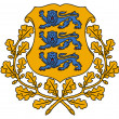 Estonia Coat of Arms - Foto Stock