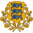 Estonia Coat of Arms - Stockfoto