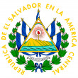 El Salvador coat of arms - Foto Stock