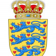 Denmark Coat of Arms - Stockfoto