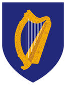 Irland vapen — Stockfoto