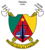 Cameroon Coat of Arms — Stock Photo
