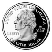 US Quarter Dollar — Stock fotografie