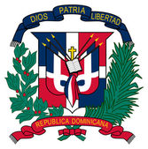 Dominican Republic Coat of Arms — Zdjęcie stockowe