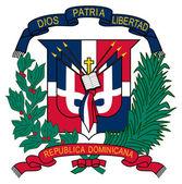 Armoiries de république dominicaine — Photo