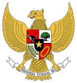 Indonesia Coat Arms — Stock Photo