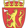 Norway Coat of Arms — Stock Photo