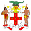 Foto de Stock  : JamaicCoat of Arms