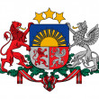 Latvia Coat of Arms - Stock Photo