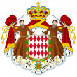 Monaco Coat of Arms — Stock Photo