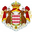 Monaco Coat of Arms — Stok fotoğraf