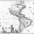 Map of the Americas — Foto de Stock