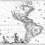 karta över Amerika — Stockfoto