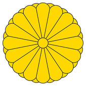 Keizerlijke zegel van japan — Stockfoto