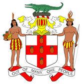 Escudo de jamaica — Foto de Stock
